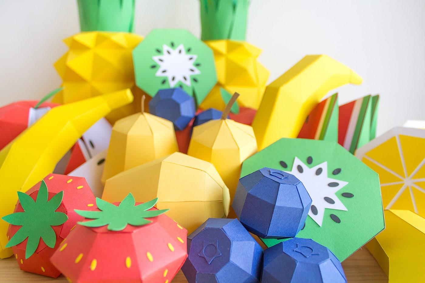 крафт дизайн фруктов
